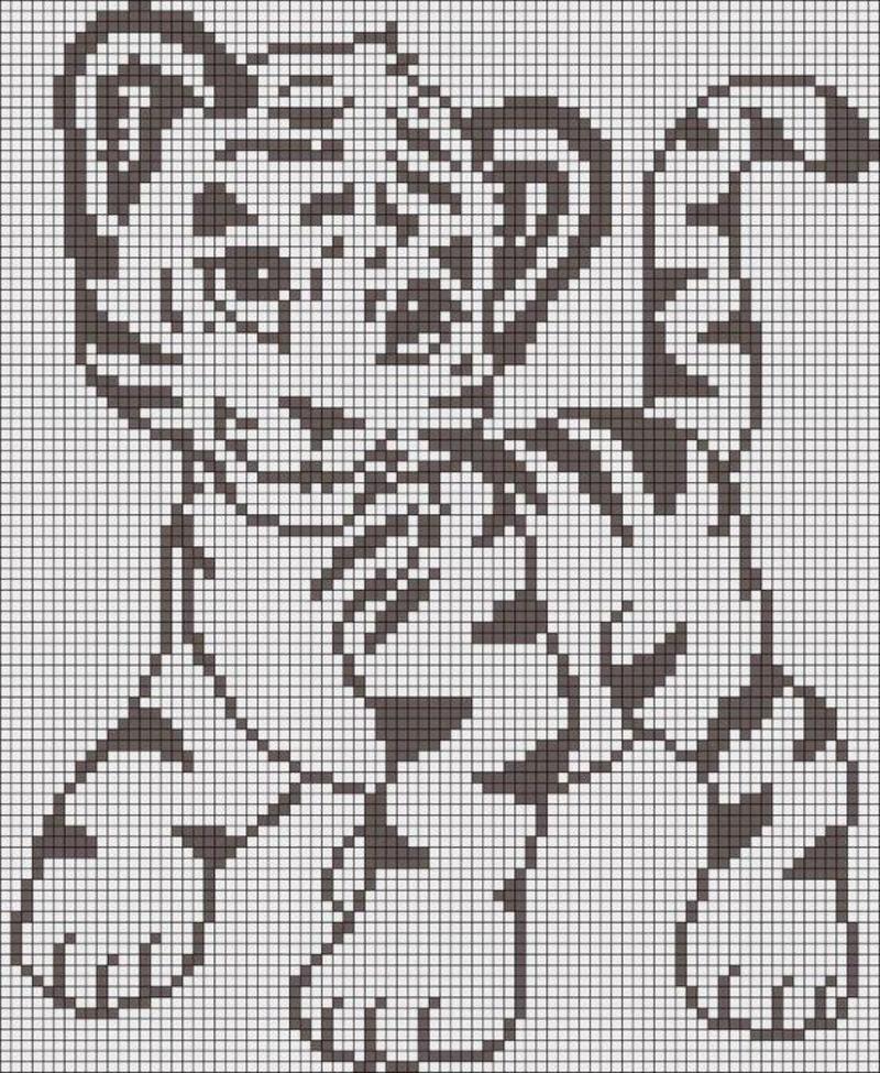 White Tiger Crochet Pattern Free : grilles gratuites animaux