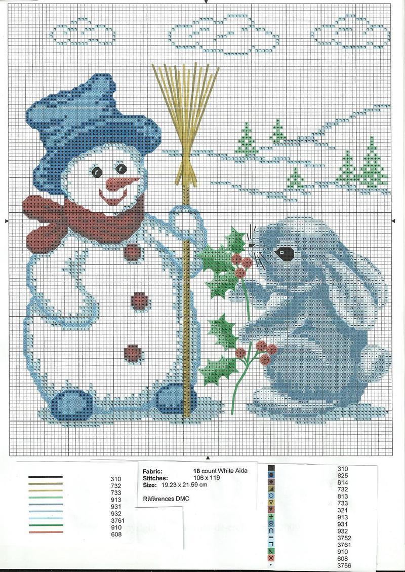 Grilles gratuites page 13 - Modele bonhomme de neige ...