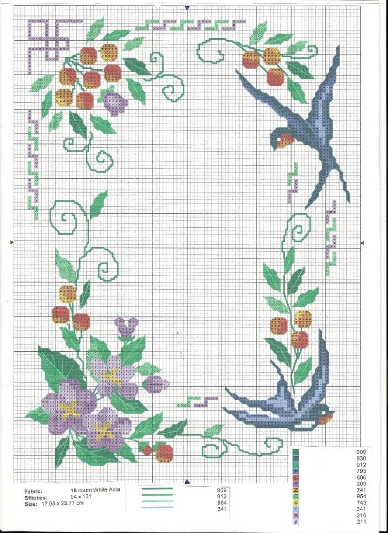 Grilles gratuites page 10 - Broderie point de croix grilles gratuites fleurs ...