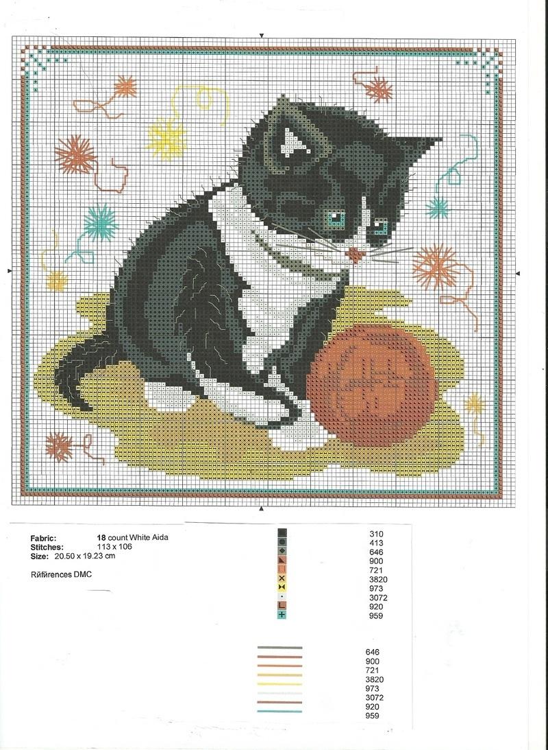 le chat et la pelote de laine. Black Bedroom Furniture Sets. Home Design Ideas